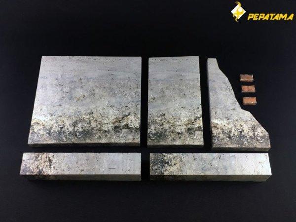 画像2: PEPATAMAシリーズ M-001 ペーパージオラマ 壁セットA モルタル煉瓦