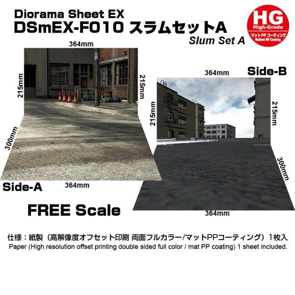 画像1: 箱庭技研 ジオラマシート DSmEX-F010 スラムセットA